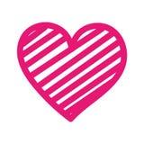 Verfraait de Romaanse hartstocht van de hartliefde strepen stock illustratie