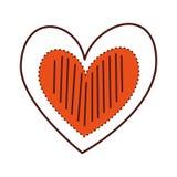 Verfraait de Romaanse hartstocht van de hartliefde strepenpunten vector illustratie