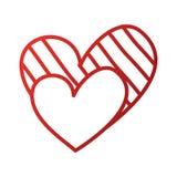 Verfraait de Romaanse hartstocht van de hartliefde strepenpunten royalty-vrije illustratie