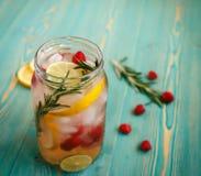 Verfrissend detox water in kruik Stock Fotografie