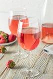 Verfrissende Roze Wijn Rosé stock afbeeldingen