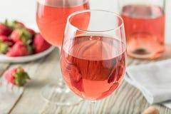 Verfrissende Roze Wijn Rosé royalty-vrije stock foto