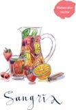 Verfrissende sangria (stempel) royalty-vrije illustratie
