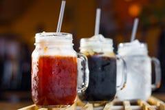 Verfrissing met Thaise dranken royalty-vrije stock foto's