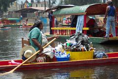 Verfrissing-Xochimilco Mexico royalty-vrije stock afbeeldingen