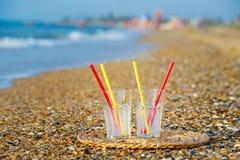 Verfrissingen bij het strand Stock Afbeelding