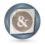 Verfrommeld document en ampersand Stock Fotografie