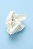 Verfrommeld papieren zakdoekje Royalty-vrije Stock Fotografie