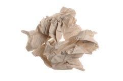 Verfrommeld toiletpapier op een witte geïsoleerde achtergrond Stock Afbeeldingen