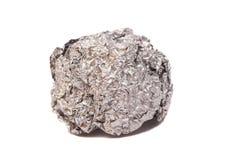 Verfrommelde bal van aluminiumfolie Royalty-vrije Stock Afbeelding