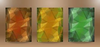 Verfrommelde document abstracte achtergrond 3 in 1 Royalty-vrije Stock Afbeeldingen