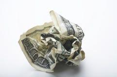 Verfrommelde Dollar Stock Fotografie