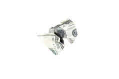 Verfrommelde 100 dollarrekening Stock Foto