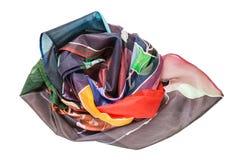 Verfrommelde hand geschilderde geïsoleerde batik headscarf Stock Afbeelding