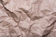 Verfrommelde het document van de roomambacht textuur als achtergrond stock afbeeldingen