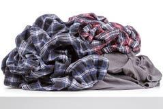 Verfrommelde kleren Royalty-vrije Stock Afbeelding