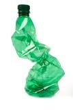 Verfrommelde plastic fles Royalty-vrije Stock Foto's