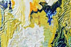 Verfslagen als achtergrond, witte en blauwe van borstel Stock Fotografie