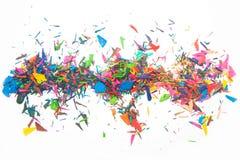 Verfspaanders van kleurpotloden Royalty-vrije Stock Afbeelding