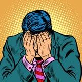Vergüenza del hombre de negocios, palma de la cara libre illustration