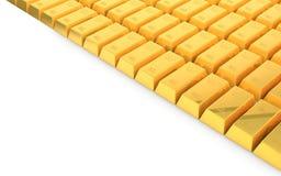 verga d'oro 3d su fondo bianco illustrazione di stock