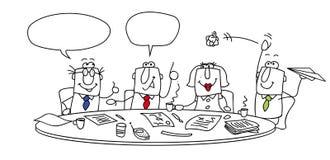 Vergadering vector illustratie