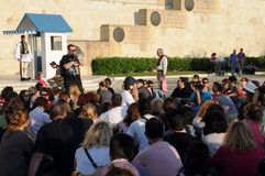 Vergadering in Athene Stock Afbeelding