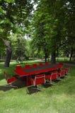 Vergadering in een park Royalty-vrije Stock Foto's