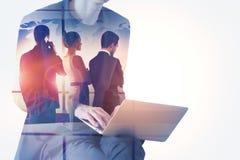 Vergadering en technologieconcept Royalty-vrije Stock Fotografie