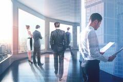 Vergadering en werkgelegenheidsconcept Royalty-vrije Stock Afbeelding