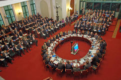 Vergadering in Kamer van Koophandel en de industrie Royalty-vrije Stock Afbeeldingen