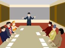 Vergadering om het probleem op te lossen royalty-vrije illustratie