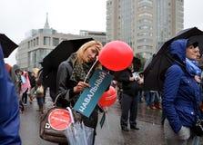 Vergadering 6 September 2013 tot steun van Navalny Royalty-vrije Stock Afbeeldingen