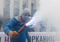 Vergadering tegen corruptie in Kiev Stock Foto's