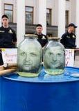Vergadering tegen corruptie in Kiev Royalty-vrije Stock Foto