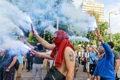 Vergadering tegen corruptie in Kiev Stock Foto