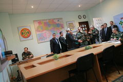 Vergadering van de militaire leiding Royalty-vrije Stock Fotografie