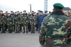 Vergadering van de militaire leiding Stock Afbeelding