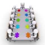 Vergadering van zakenlieden om de oplossing te vinden Royalty-vrije Stock Afbeelding