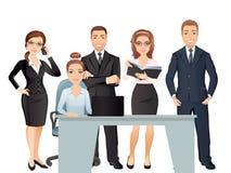 Vergaderings bedrijfsmensen groepswerk Het bespreken en de brainstorming van bureauwerknemers in vergaderzaal Royalty-vrije Stock Fotografie