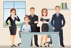 Vergaderings bedrijfsmensen groepswerk Het bespreken en de brainstorming van bureauwerknemers in vergaderzaal Royalty-vrije Stock Foto's