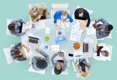 Vergaderings Communicatie Plannings Bedrijfsmensenconcept Royalty-vrije Stock Foto's