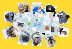Vergaderings Communicatie Plannings Bedrijfsmensenconcept Royalty-vrije Stock Foto