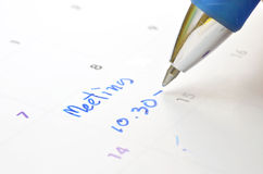 Vergaderings op tijd ontwerper Royalty-vrije Stock Afbeelding
