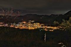 Vergato vid natt Fotografering för Bildbyråer