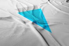 Verge XVG cryptocurrency 3d render flag royalty free illustration