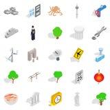 Verge icons set, isometric style Stock Images