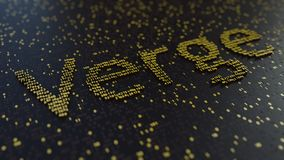 Verge word made of golden numbers. 3D rendering Stock Image