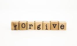 Vergeef verwoording, ethiek en verdiensteconcept royalty-vrije stock foto