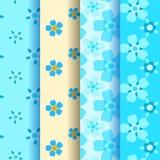4 vergeet-mij-nietje naadloos patroon Royalty-vrije Stock Afbeelding